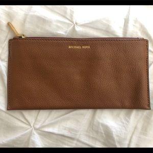 Leather Michael Kors wallet bag